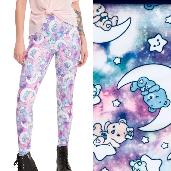 99d42097dd58c Hot Topic Pants | Care Bears Kawaii Collection Galaxy Leggings ...
